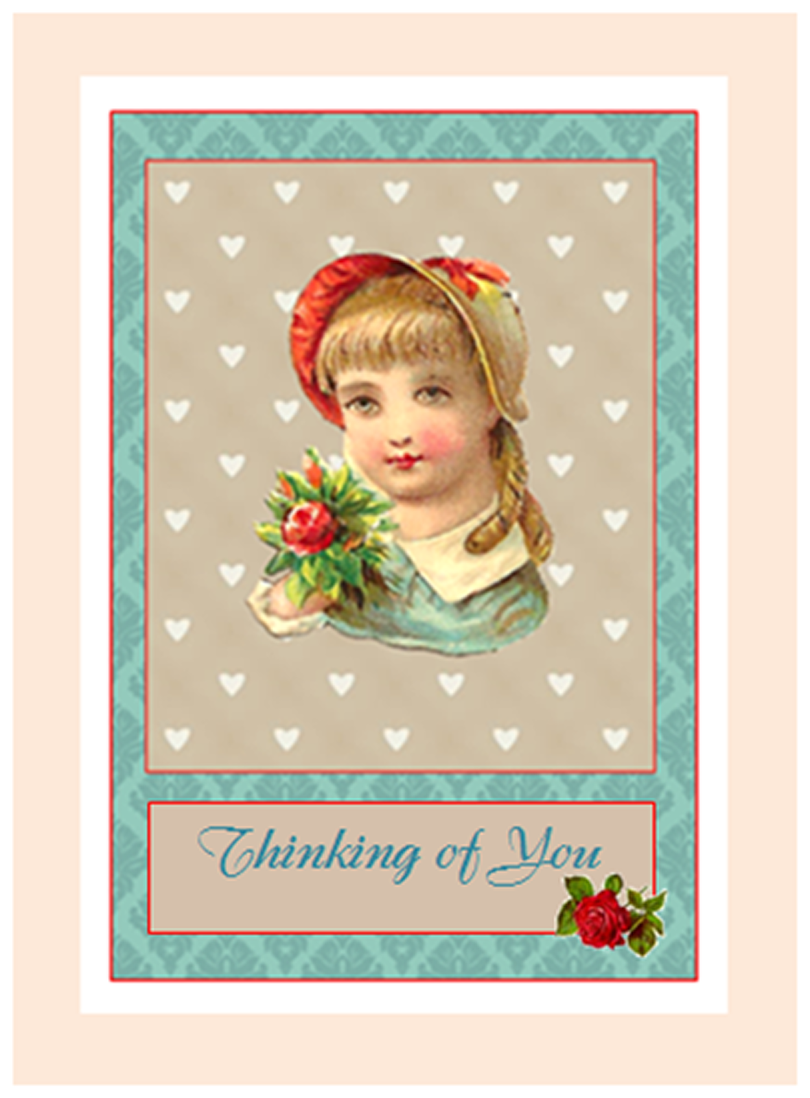 Antique Images Free Printable Greeting Card Greeting